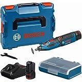 Bosch Professional 12V System sladdlöst rotationsverktyg GRO 12V-35 (obelastat varvtal: 5000–35000 v/min, inkl. 2 st. 2,0 A