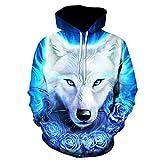 LLPOKM Wolf Hoodies Pullover Trainingsanzüge Streatwear Hoody 3D Herren Kleidung Herbst Sweatshirts Pullover Mantel Drop Ship LMWY-383 XL