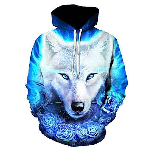 LLPOKM Wolf Hoodies Pullover Trainingsanzüge Streatwear Hoody 3D Herren Kleidung Herbst Sweatshirts Pullover Mantel Drop Ship LMWY-383 L