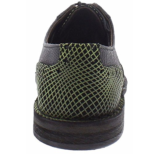 Fly London Mens IDal 903 Sole/Opti Leather Shoes Noir Vert