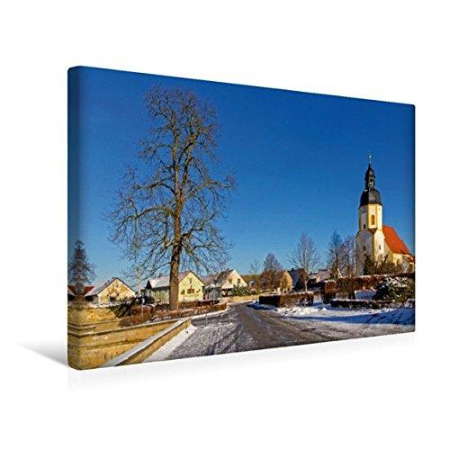 Premium Textil-Leinwand 45 cm x 30 cm quer, Die St.-Georgen-Kirche in Zabeltitz | Wandbild, Bild auf Keilrahmen, Fertigbild auf echter Leinwand, ... im Landkreis Meißen (CALVENDO Orte)