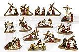 Set Via Crucis Statue 14estaciones de resina cm.16Belén Pascua by paben