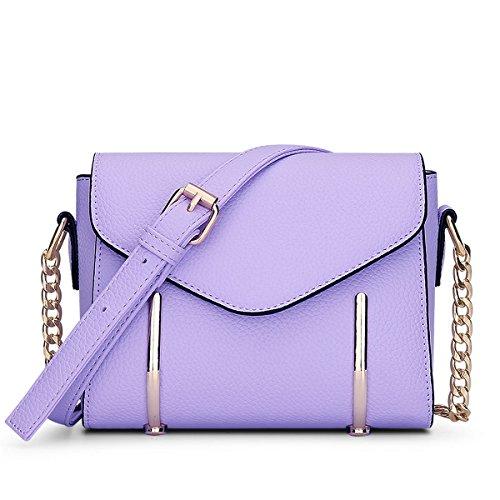 Dissa® S797 Damen 2018 Mode PU Schultertaschen,Umhängetaschen,20x15x10(BxHxT) Violett