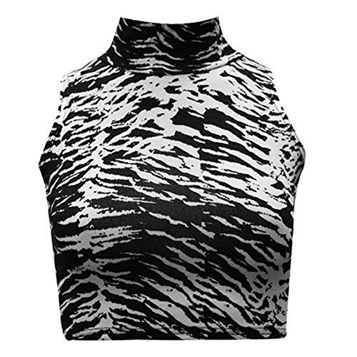 Candid Styles Damen Top Zebra Animal Print