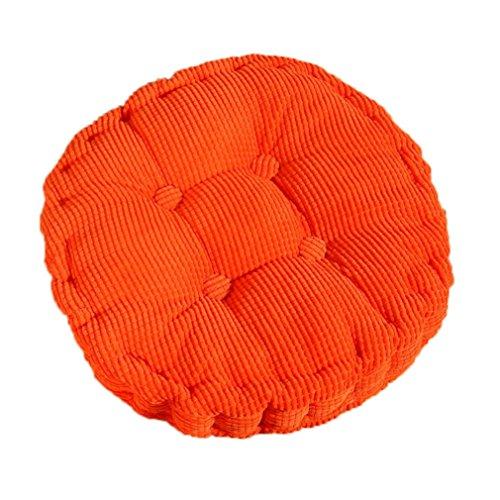 Dosige Coussin Rond Coussin en Velours Côtelé Siège Coussin pour Maison Bureau Voiture - Orange