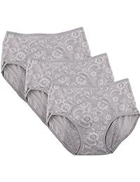 Les femmes menstruel période mémoires Jacquard culotte facile à nettoyer 3-pack Taille 36-44