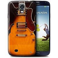 Stuff4 Hülle / Hülle für Samsung Galaxy S4/SIV / Semi Akustik Muster / Gitarre Kollektion