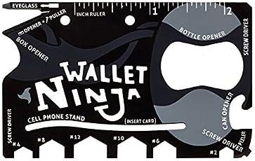 iNinja Tools Black Swiss Army Knive(18 In 1 Multipurpose )
