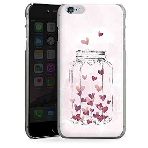 Apple iPhone X Silikon Hülle Case Schutzhülle Herzen Liebe Grafik Hard Case anthrazit-klar