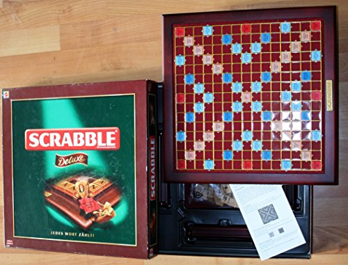 Mattel - SCRABBLE Deluxe, Edelholzsteine, 2 - 4 Spieler