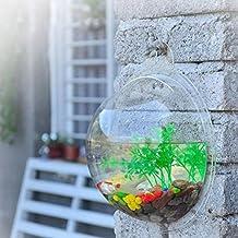 Pared pecera montada por TimeCollect acrílico tazón de fuente de burbuja acuario colgante terrario pececito mascota pecera hogar y decoración