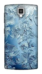 The Racoon Lean ice pattern hard plastic printed back case / cover for Lenovo A1000