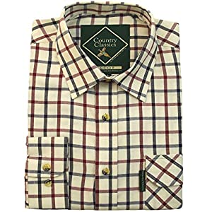 51Z0WSL9lcL. SS300  - Country Classics Mens Long Sleeve Check Country Shirts