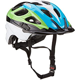 Alpina Unisex - Kinder Fahrradhelm Rocky, black/blue/green, 52-57, 9629138