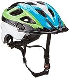 Alpina Unisex - Kinder Fahrradhelm Rocky, black/blue/green, 47-52, 9629038