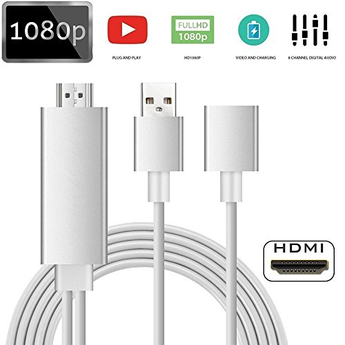 Digital-hdtv-home-theater-system (Lightning auf HDMI Adapter Kabel bacaksy Lightning Digital AV Adapter für iPhone Samsung iPad zu Spiegel auf HDTV Projektor Plug und Play Lightning Adapter)