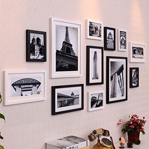 GJIF Fotorahmen-Wand-Galerie-Kit enthält: hängende Wand-Schablone, Rahmen, Kunst-Malerei-Kern