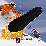 beautygoods Semelles Thermiques Semelle chauffante, Semelle électronique Rechargeable Semelle chauffante avec télécommande pour la randonnée en Hiver avec Télécommande Intelligente