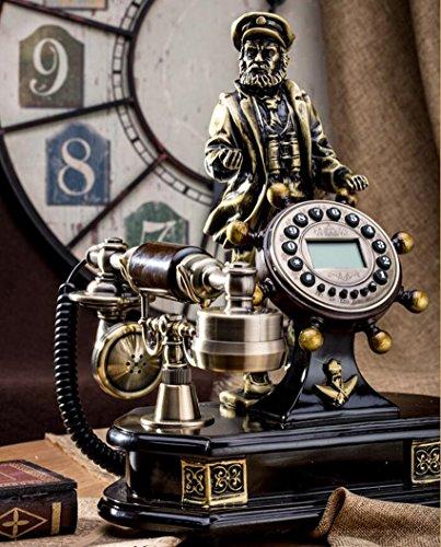 Antik Telefon Retro-Telefon Festnetz Old Captain Steuermann Handset Büro Dekoration Handset Cord Detangler