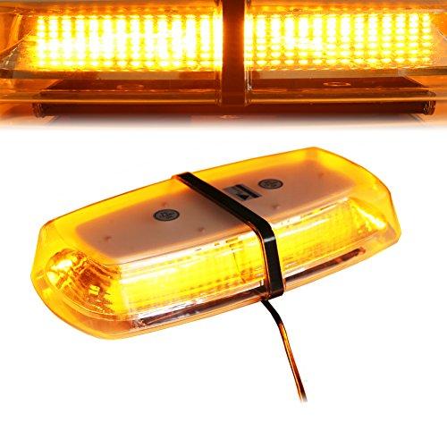 T Tocas(tm) 31cm 72 SMD 20W LED Voiture Strobe Éclairage Extérieur Mini Lampe d'avertissement /Plafonnier Lampe pour Toit et Bateau 12V-24V(Ambre)
