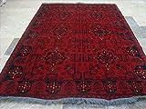 ahmedani Rechteck Bereich Teppich Afghane Khal muhamadi Feine handgeknotet Wolle Teppich (6,2x 4,3) '