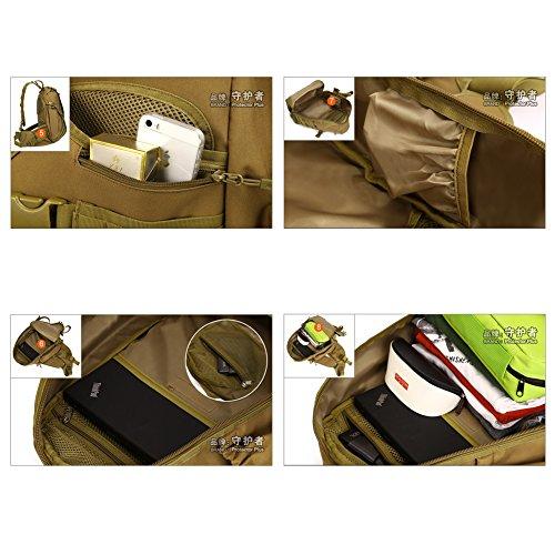 YAAGLE Groß Fassungsvermögen Reisetasche Schultertasche Gepäck militärisch Brustbeutel 14 zoll Laptoptasche Fahrradrucksack Bergsteigen Kuriertasche Tarnung 1