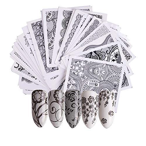 Shuda Nagelaufkleber-Spitze Nagelaufkleber Nail Art Plates Stamping Nagel Bildstempel Schablone Nagel Tattoo (Nägel-sticker-schablonen)