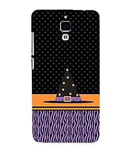 PrintVisa Designer Back Case Cover for Redmi Note 4 :: Xiaomi Redmi Note 4 (Black Purple Orange Pyramid Square)