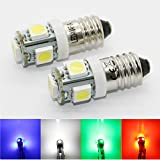 LED-Mafia® 2x E10 Schraubsockel 6 Volt - LED SMD E10 6V (weiß)