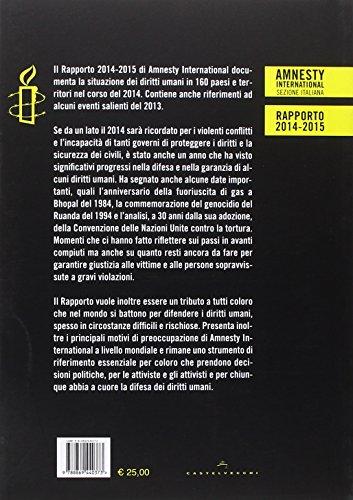 Amnesty International. Rapporto 2014-2015. La situazione dei diritti umani nel mondo