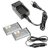 DSTE®(2 Pack)Ersatz Batterie und DC94E Reise Ladegerät Kit für Casio NP-90 Exilim EX-H10 EX-H15 EX-H20G EX-FH100 EX-FH100BK Digatal Kamera