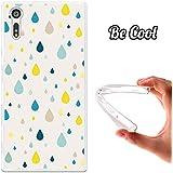 Becool® - Funda Gel Flexible para Sony Xperia XZ, Carcasa TPU fabricada con la mejor Silicona, protege y se adapta a la perfección a tu Smartphone y con nuestro exclusivo diseño. Lluvia de colores