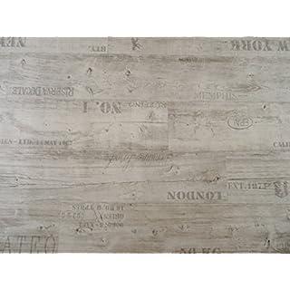 PVC mit Schriftzügen, weiß - von Alpha-Tex 9.95€/m² (kleines Musterstück)
