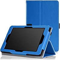 MoKo Amazon Kindle Fire HD 6 2014 Case - Sottile Pieghevole Cover Custodia per Amazon Kindle Fire HD 6 Inch 2014 Tablet, BLU (Con Smart Cover Auto Sveglia / Sonno)