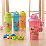 Rikang Insulated Straw Bottle 340 Ml (Blue)