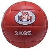 Lonsdale Erwachsene Medizinball 3 kg Medizinball-3kg rot M