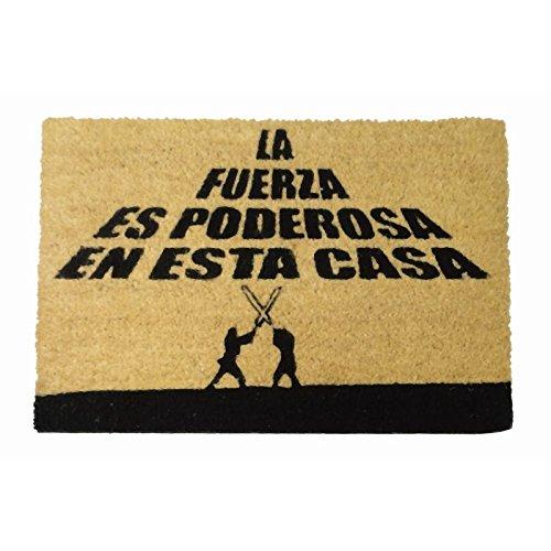 Felpudos Originales  con Diseño la Fuerza Es Poderosa, PVC, Coco, 60
