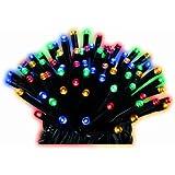 Lumineo LED Twinklelights, Aussen, 6 m, 80 Lichter, schwarzes Kabel, bunte Dioden 494116