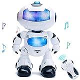 Intelligente e carismatico ballando telecomando robot con musica e luci per bambini, disco & 'rc robot, flasing occhi e al petto