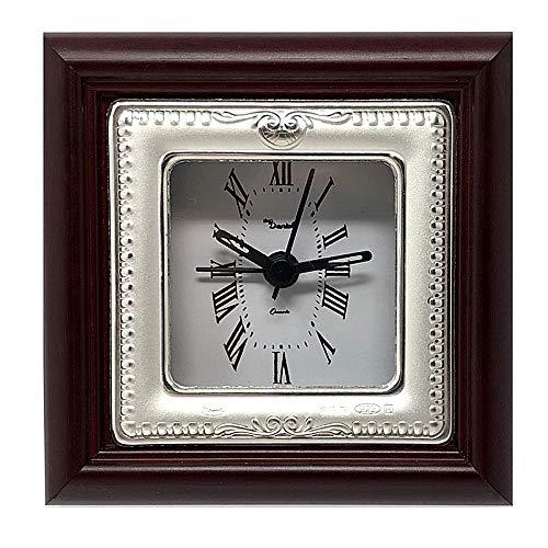 Reloj despertador plata Ley 925m mate brillo cenefa