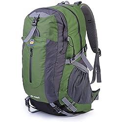 ICOCO 40L Travel Rucksack Wandern Bergsteigen Ruck Sack Wasser Resistang Gepäcktasche für Outdoor Reisen Klettern Camping mit Regen Abdeckung