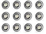 Sweet-led Set 12 x GU10 Einbaustrahler LED, 230V, 5W, Schwenkbar, Rund, Anthrazit glänzend, Warmweiß