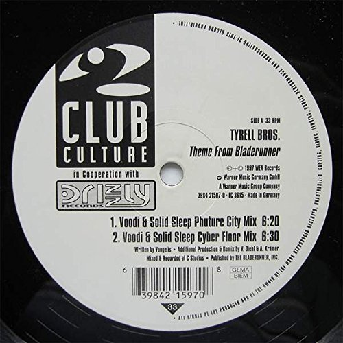 Tyrell Bros. - Theme From Bladerunner - Club Culture - 3984 21597-0