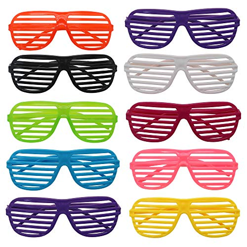 25 Shutter Brillen Kinder Erwachsene - Mode Shutter Jalousien Shades Gläser Sonnen-Brille - Party Kostüme Club Tanz Props Zubehör, Sommer Kindergeburtstag Gast-Geschenke, Partytaschen Füllungen