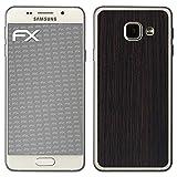 atFolix Samsung Galaxy A3 (2016) Skin FX-Wood-Dark-Wenge Designfolie Sticker - Holz-Struktur/Holz-Folie