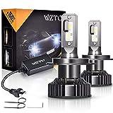 Lampadine LED,WZTO 80W 12000LM Fari Abbaglianti o Anabbaglianti per Auto, Lampada Sostituzione per Alogena Lampade e Xenon Luci,Impermeabilità IP67 Kit LED,Chip CSP,12V-24V,6000K Bianco Freddo (H4)