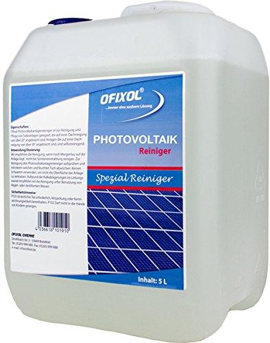 Photovoltaikanlagenreiniger 5 Liter Kanister | Flüssigkeit zur Solar-Reinigung von Photovoltaik, Solarpanel, Solaranlage, PV Anlage, Solarzellen