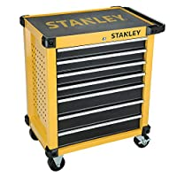 "Stanley 27"" 7 Drawer Roller Cabinet, Yellow/Black - STMT1-74306"