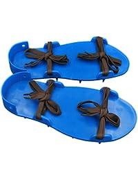 MagiDeal Piso Pintura Construcción Especial de Uñas Zapatos Claveteados Herramientas de Bricolaje Casa Azul