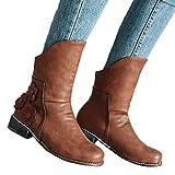 TianWlio Boots Schuhe Stiefeletten Stiefel Damen Herbst Winter Gefüttert Schneestiefel Schnallen Wasserdicht Kurz Stiefeletten Schuhe Ankle Stiefeletten Kurzschaft Wildleder Leder Stiefel